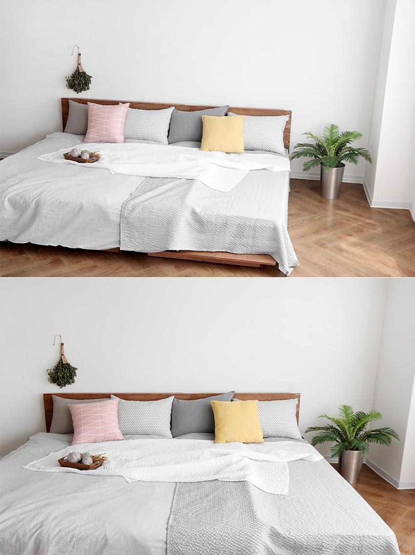 [오크] A형 저상형패밀리침대 - 베이직가구, 3,120,000원, 침대, 퀸침대